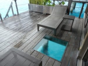 Overwater Bungalows with Glass Floors