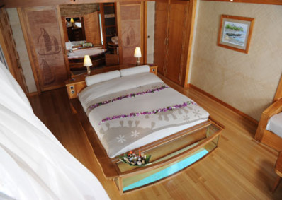 Strictly Overwater Bungalows with Glass Floors