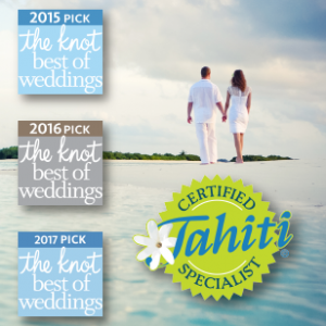 "3 Years ""Best of Weddings"" and Certified Tahiti Specialist"