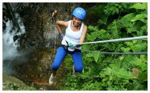Rappelling at The Springs Resort & Spa