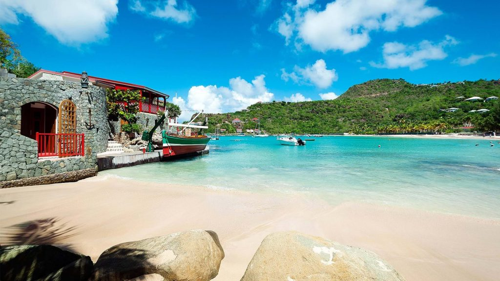 St Barths beachside honeymoon relaxation