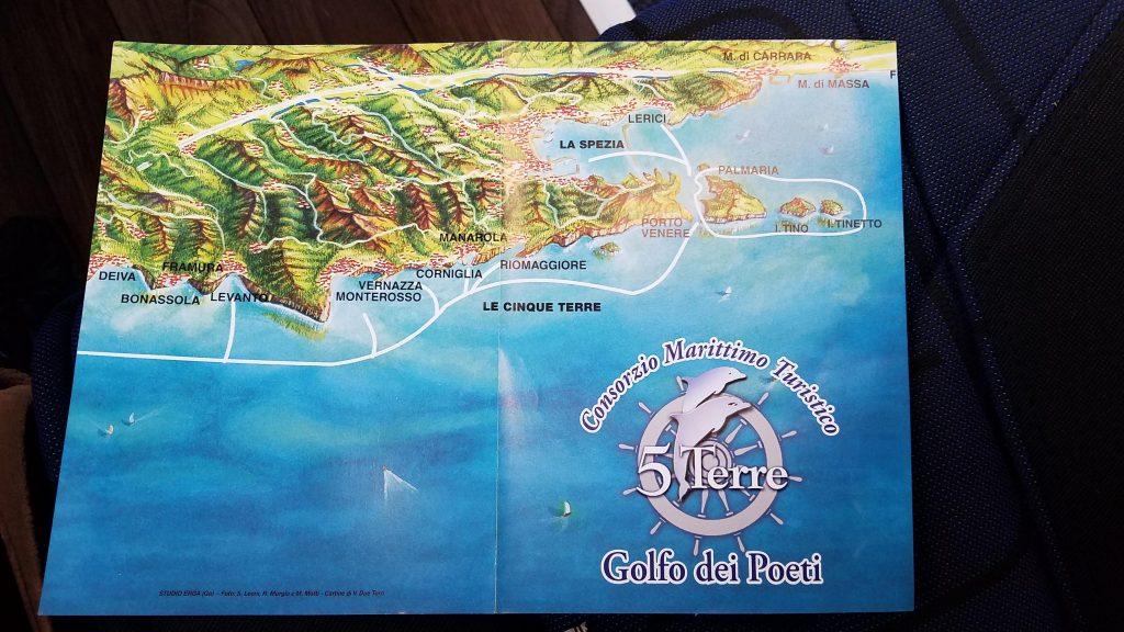 CInque Terra Italy Map