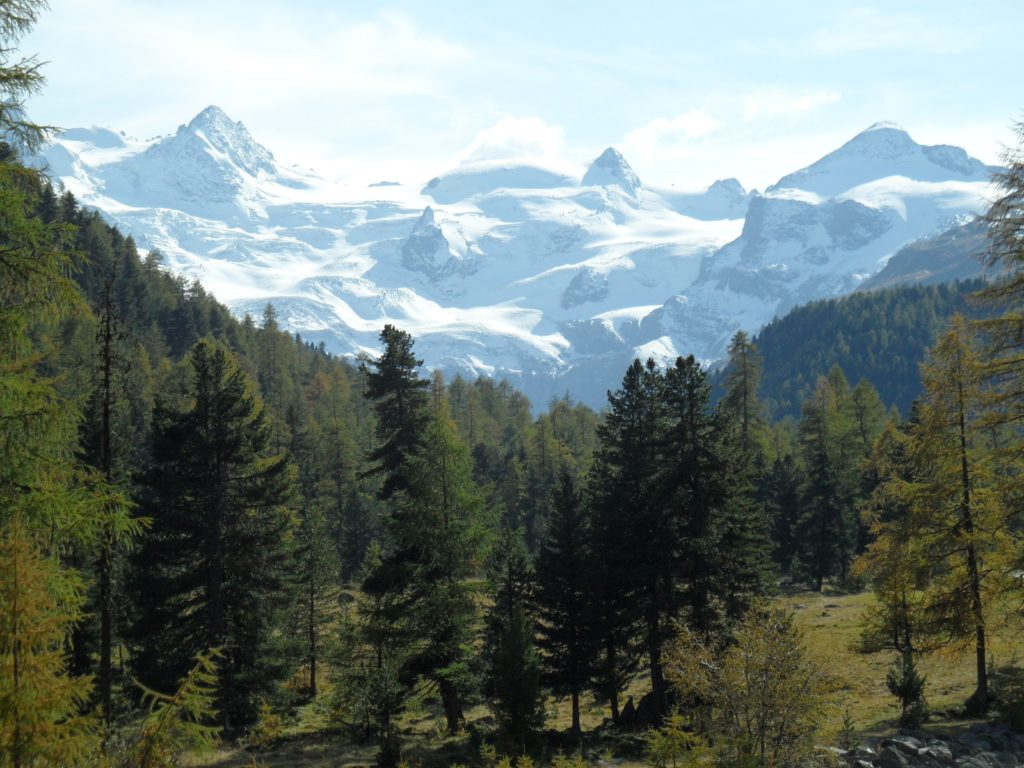 View of Roseg Glacier, Samedan, Switzerland