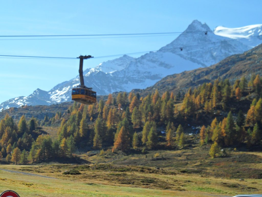 cable car ride to the Diavolezza, St. Moritz