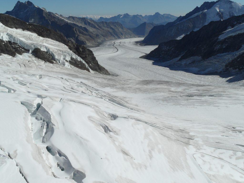 view of Aletsch Glacier from Jungfraujoch