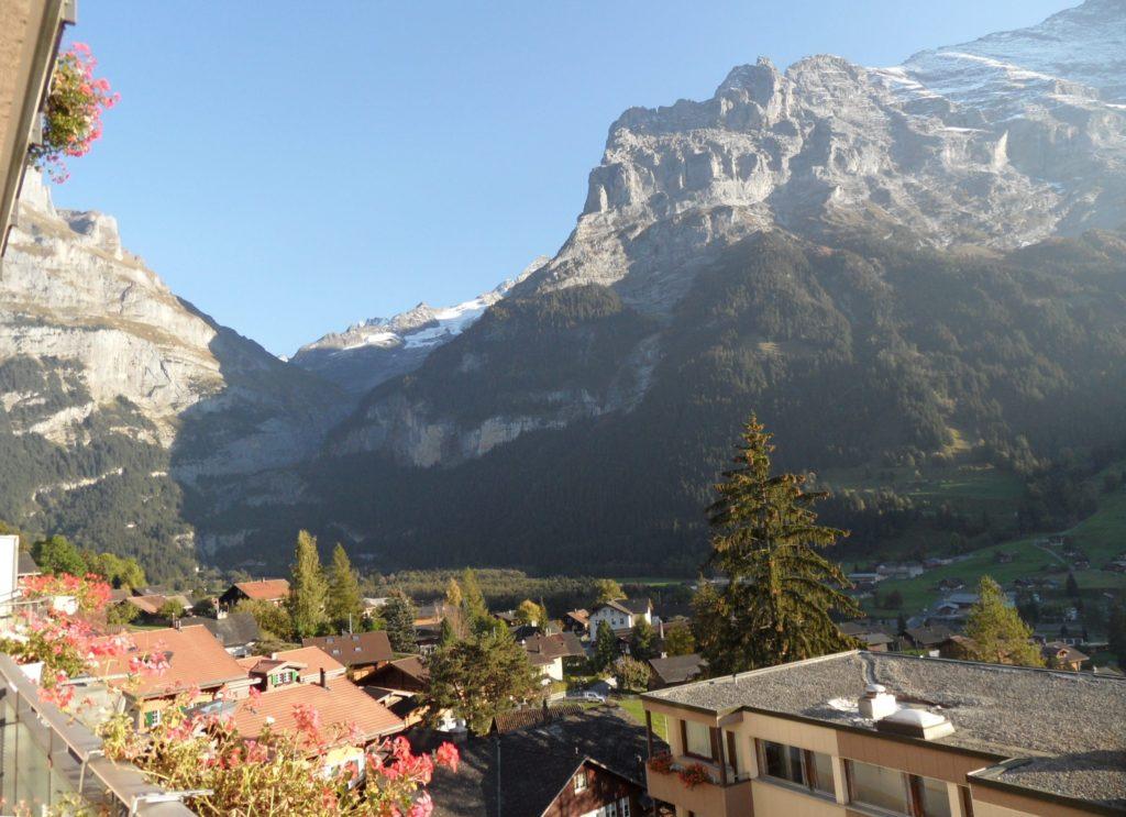 view of Rhone Glacier from Hotel Belvedere, Grindelwald, Switzerland