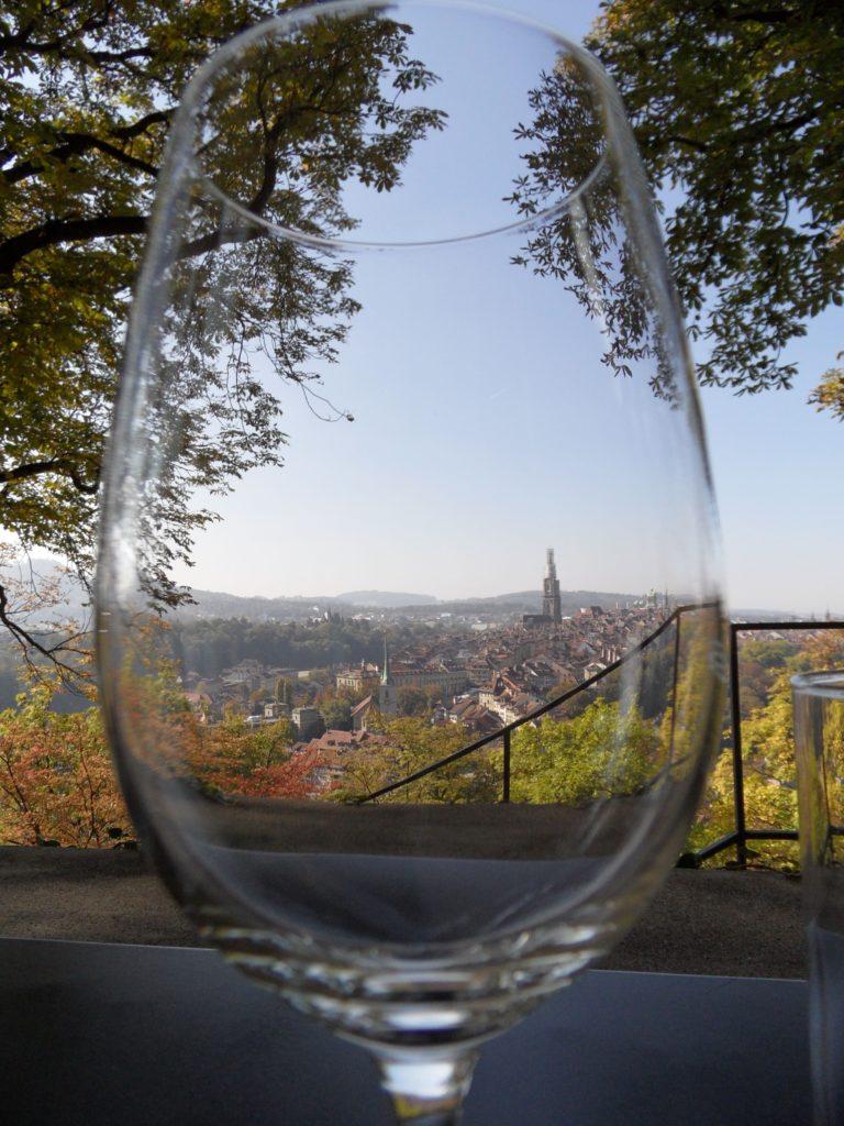 view of Bern from Rose Garden Restaurant, Switzerland